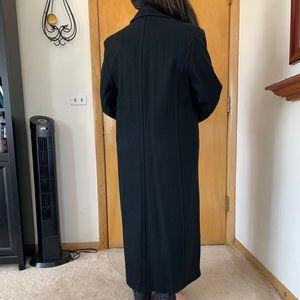 Wool Ankle Length Black Floor Coat